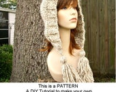 Instant Download Knitting Pattern - Knit Hat Knitting Pattern - Knit Hat Pattern for Tassel Hat - Womens Accessories