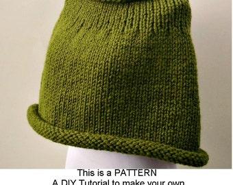 Knit Capelet Pattern : Knit cape pattern Etsy