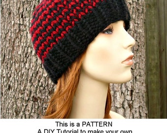 Knitting Patterns For Toques : Instant Download Knitting Pattern - Knit Hat Knitting ...