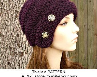 Ladies Hat Knitting Patterns : Cloche Etsy