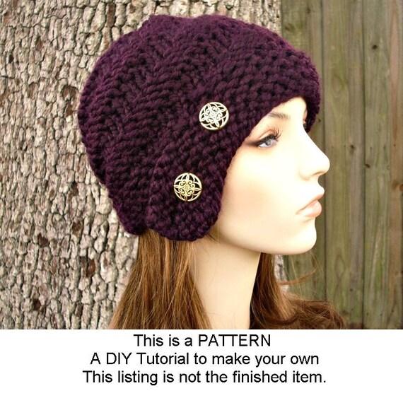 Instant Download Knitting Pattern - Knit Cloche Pattern - Knit Hat Pattern Hybrid Swirl Cloche Hat - Womens Hat Pattern Womens
