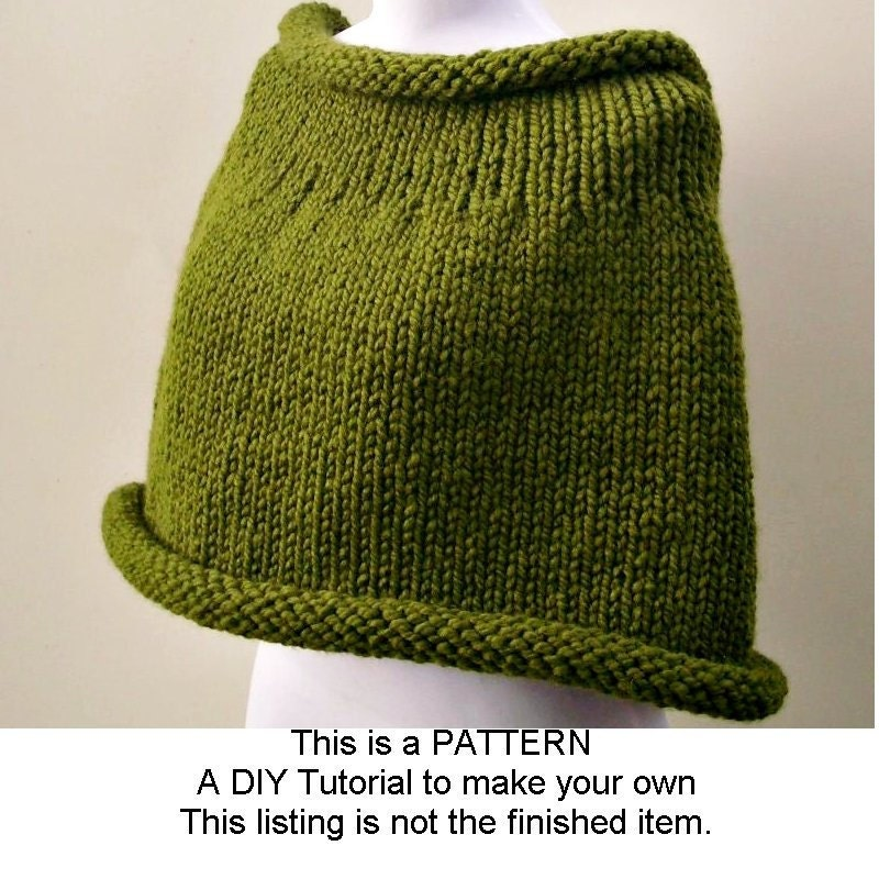 Instant Download Knitting PATTERN PDF Knit Capelet Pattern