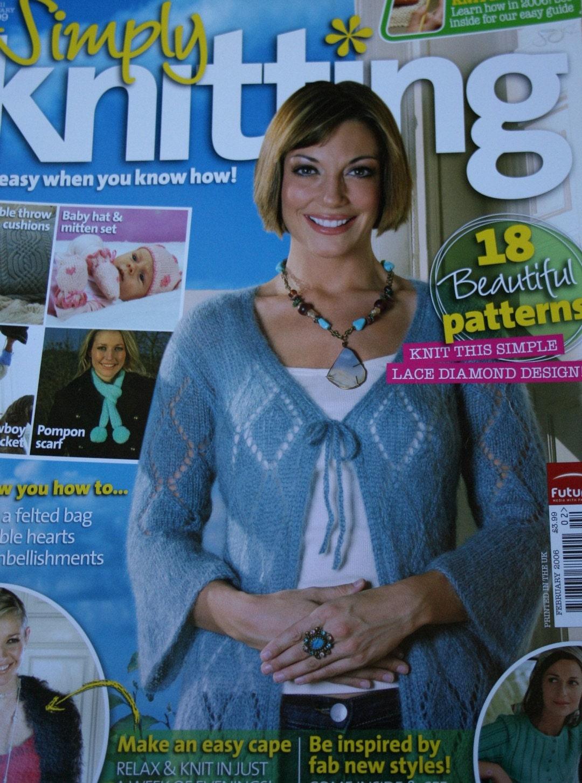 Simply Knitting Magazine : Knitting patterns simply magazine february sweater
