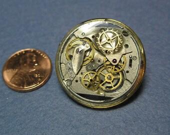 Steampunk Resin Watch Part Pin 2