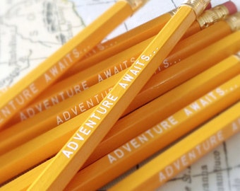 Adventure Awaits Pencil 6 Pack Yellow Back to School