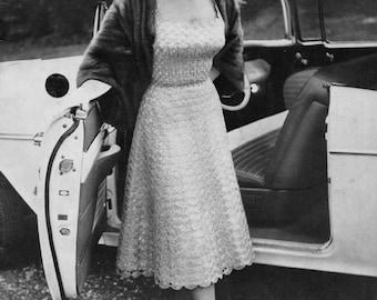 Organdie - Vintage Dress Pattern - Crochet Ribbon - PDF eBook