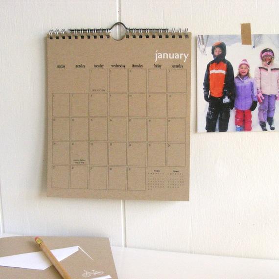 2013 kraft wall calendar