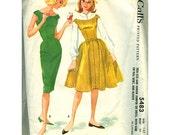 Vintage Pattern 1960 McCalls 5483 Teen Junior Jumper Dress with slim or full skirt blouse size 14