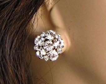 Bridesmaids Earrings, multiples discount, Crystal Post, Rhinestone stud, wedding jewelry, Bridesmaid jewelry, cluster earrings, Bridal