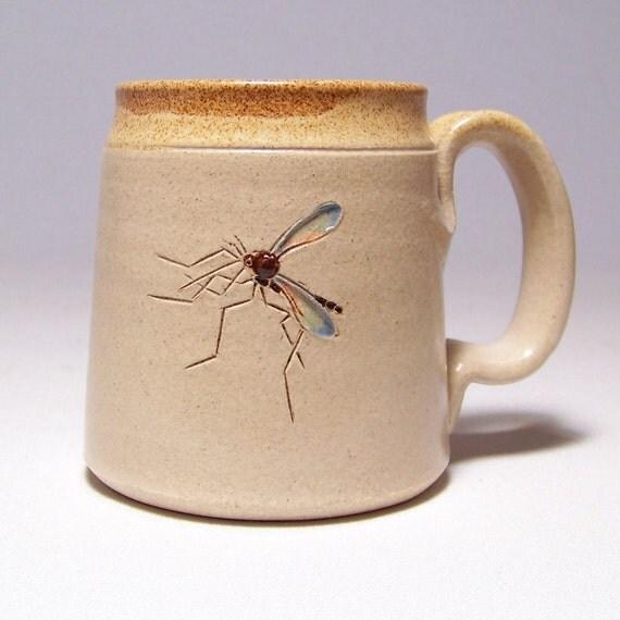 Mosquito Stoneware Coffee  Mug Limited Series 193 (microwave safe) 12 oz