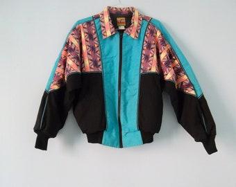 Tribal Southwestern Coat Heavy Canvas 80s 90s