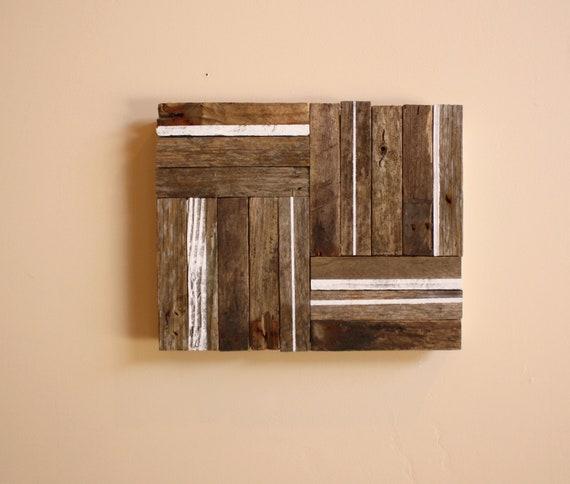 Linework - Modern Industrial Design - Reclaimed Driftwood Artwork