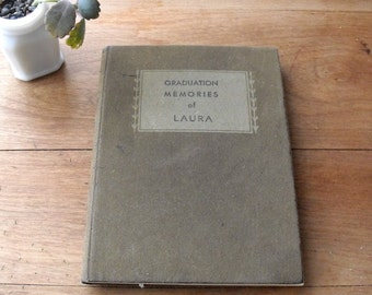 Vintage Graduation Book : Antique 1930s with Invitations and Cards