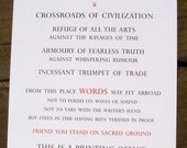 This is a Printing Office... Letterpress printed Broadside