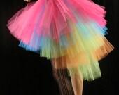 Neon Ring Master adult tutu skirt huge poofy costume rainbow pride dance halloween carnival noir - You Choose Size - Sisters of the Moon