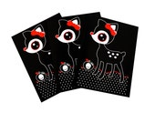 Poison Apple Fawn Note Cards - Set of Three