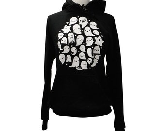 GHOST Hoodie Sweater - Kawaii Ghosts Unisex Sweatshirt - (Sizes S, M, L, XL)