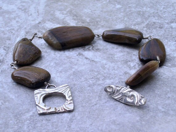For her, bracelet, one of a kind, Tiger Eye silver, ready to ship, gift wrap included, unique Christmas gift idea