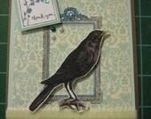 Stunning Raven Card Set, Vintage Raven Design, Set of 5 Cards and Envelopes, Thank You notes