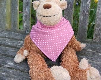 SALE Rose pink polka dot bandana dribble bib