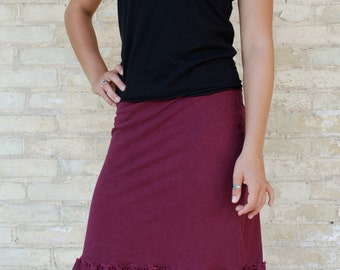 Organic Cotton & Hemp Pencil Skirt