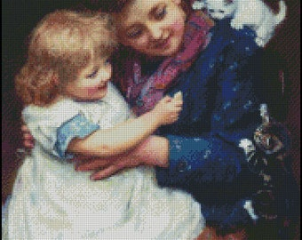 PLAYTIME cross stitch pattern No.614