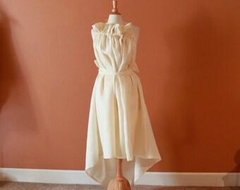 plus size linen ruffle pleats versatile dress made to order listing