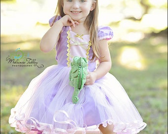RAPUNZEL costume  TUTU dress costume for toddlers and girls fun for special occasion or birthday party costume