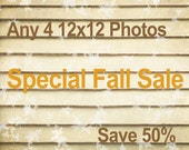 Sale photography, art prints, home decor, choose any 4 square fine art photographs as 12x12's and save 50%