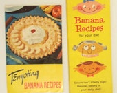 Vintage Cooking Booklets, Banana Recipes, Set of Two