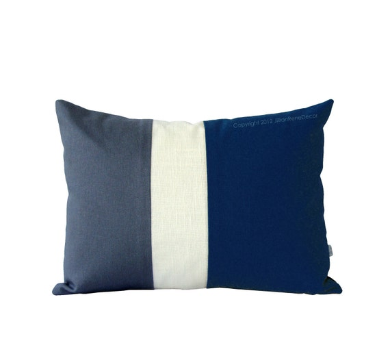 Items Similar To Navy Blue And Gray Striped Colorblock