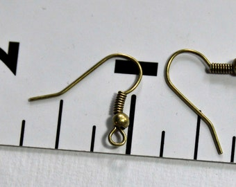 150 lead and nickle free hypo-alergenic antique bronze french ear wires steampunk victorian jewelry findings supplies