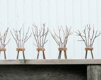 Miniature Rustic Chair with Twig Back