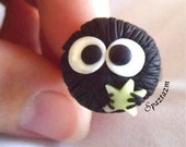soot sprite with glow in the dark star ring customizable colors