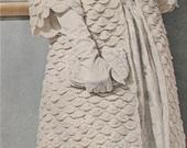 Vintage 1960s Crochet Shell Evening Coat Jumper Jacket Pattern Bust 31, 32, 34, 35, 36, 38, 39, 40 Era 60s PDF 6513