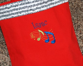 Girls or boys personalized  piano class custom music class canvas tote bag