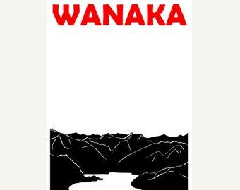Wanaka Poster (12x18 / 13x19) New Zealand Poster