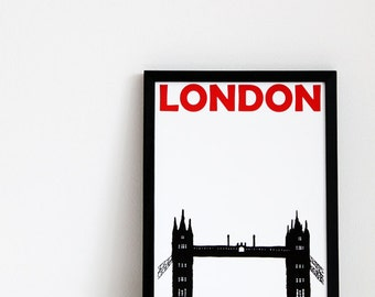 London Art Print // Travel Poster United Kingdom