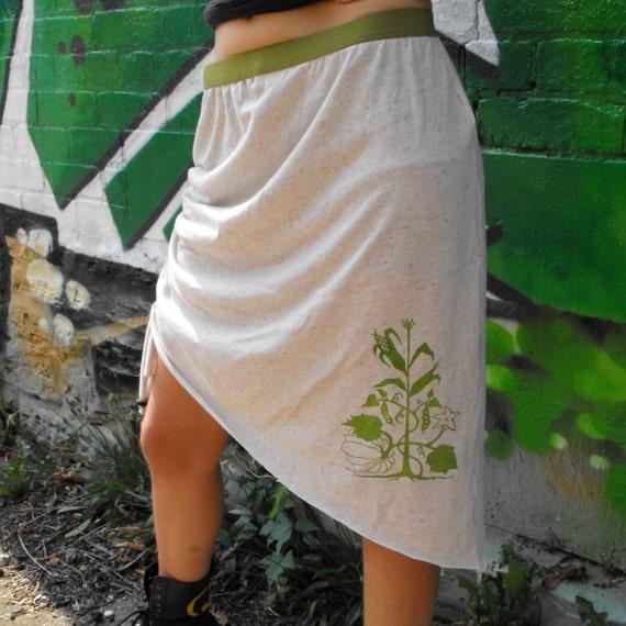 3 Sisters Skirt Plant Skirt Gardening Skirt Three Sisters Skirt Corn, Beans and Squash Native American Skirt Natural Skirt Gardener