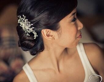 Rhinestone Hair Comb with Swarovski Crystal,  Bridal Headpiece, Wedding Hair Accessory