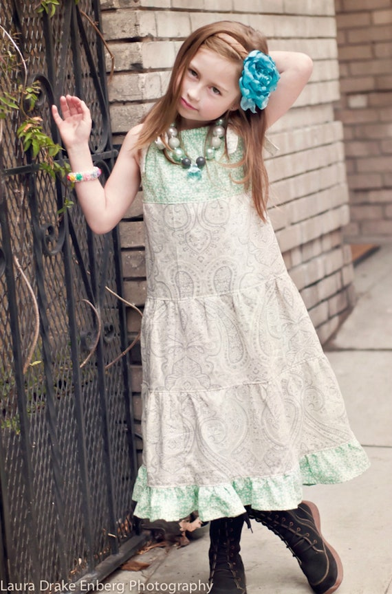 Girls maxi dress, little girls maxi dress, bohemian dress, Vintage dress, toddler dress, maxi dress, Thanksgiving dress, Christmas gift