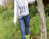SALE: Vintage Sequin & Beaded Long Sleeve Blouse