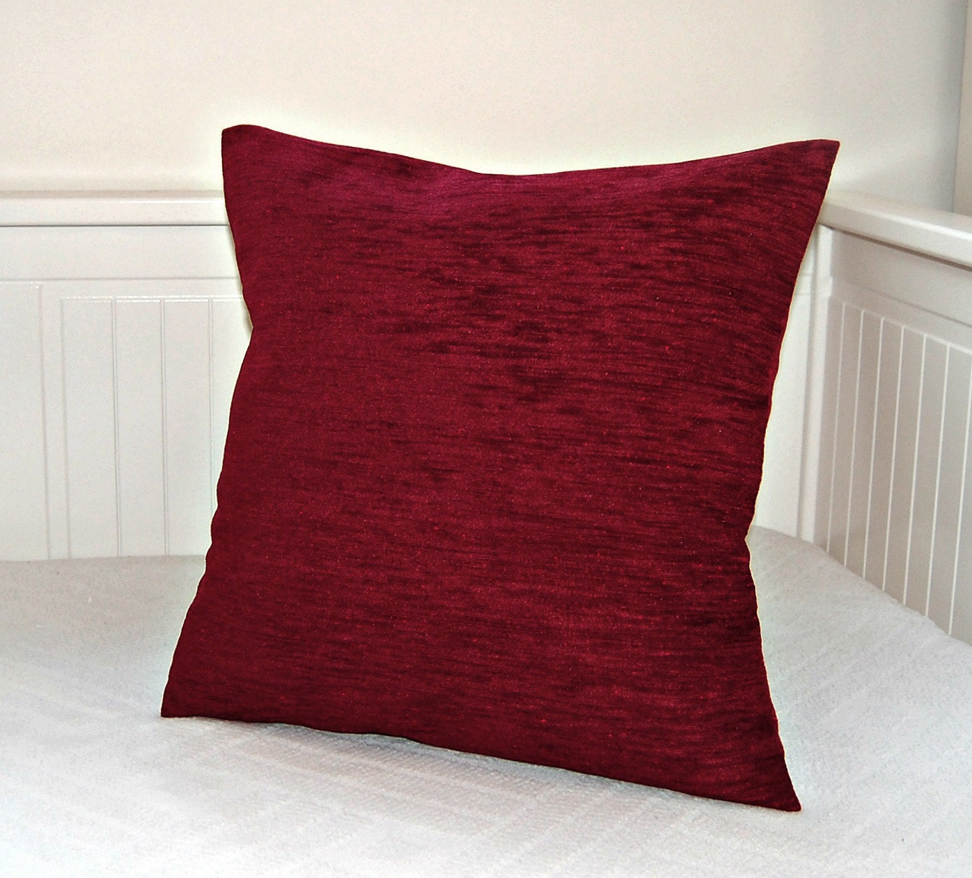 dark red accent decorative pillow cover wine red chenille