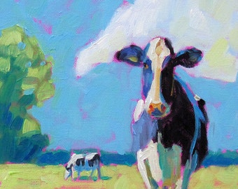 Cows - Cow Art - Cow Print - Paper - Canvas - Wood Block