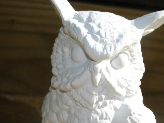 Ceramic White Owl Figurines