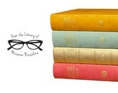 From the Library of Stamp - Glasses Stamp - Bookplate with glasses - Custom Stamp
