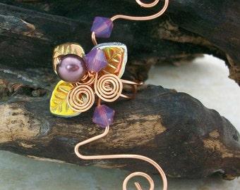 Ear Cuff Art Nouveau Autumn Flame