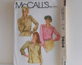 Women's Pullover Top Plus Size 22- 24 UNCUT Vintage McCall's 7404 Sewing Pattern