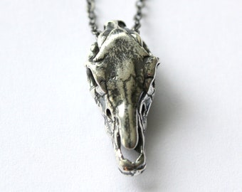 Horse Skull Necklace Solid Sterling Silver Horse Skull Pendant Necklace 205