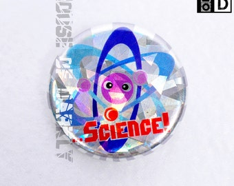 Science holographic adorable atomic model pin for science geeks
